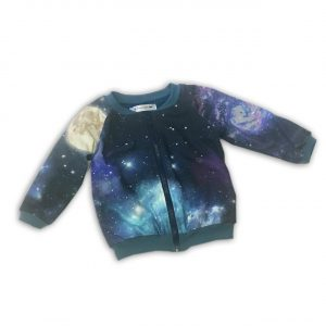 Collegejacke-Galaxis-Thierchen