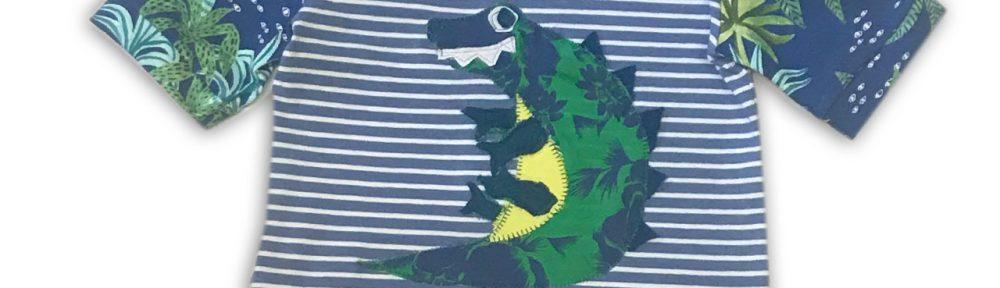 Kurzarmshirt-Krokodil-Thierchen