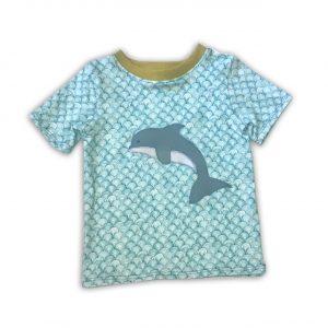 Kurzarmshirt-mit-Delphin-Thierchen