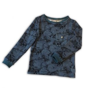 Thierchen: Blaues Dinoshirt