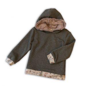 Thierchen Glitzergrauer Kapuzensweater